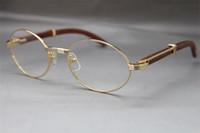 Atacado designer de 7550178 Madeira Óculos Óculos óculos moldura mulheres quente com frames de caixa do vintage Tamanho Óculos: 55-22-135 mm