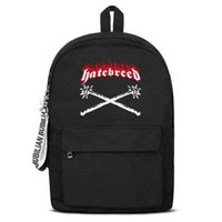 Classic metalcore band hatebreed red logo Canvas Bookbag Bas...