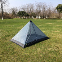 Ultralight Rodless Pyramid Inner Mesh Tent Portable 2 Person Outdoor Summer Camping Beach Tent for Backpacking Cycling Travel