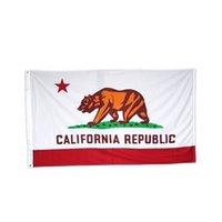Flaggen Promotion amerikanische 3x5ft California State Flag Nation Polyester Werbung Alle Länder Flaggen und Banner, freies Verschiffen