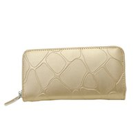 Women Serpentine Zipper PU Leather Day Clutches Wallet Coin ...