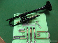 الأعلى المشتري JTR-1200 ب ب البوق مجموعة رائعة وفخمة النيكل الأسود الجسم فضة الطلاء مفتاح النحاس B شقة آلات موسيقية مع 7C لسان الحال