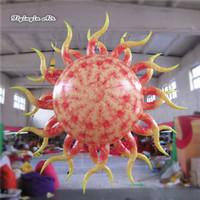 Éclairage Gonflable Star Sun Ballon 2m / 3m suspendu Boule de lanterne brillante pour la décoration de la fête de la fête de la nuit