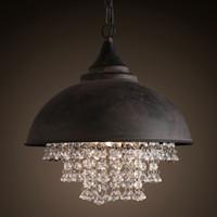 Lampada Loft vintage lampadario illuminazione pendente di cristallo moderna appendere le luci per la casa Hotel Restaurant Decoration