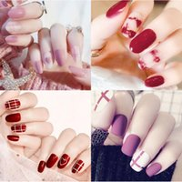 24 Pieces Set Removable Nail Finished False Nail Patch false...