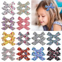 1Set 2Pcs 3. 5 Inch Grosgrain Ribbon Flower Printed Bows With...