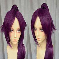 Bleach Shihouin Yoruichi 60см фиолетовый Лолита Cosplay партии парик / Ponytail