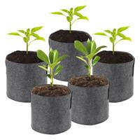 100pcs Grow Grow Bag Borse per piantare piante commercio all'ingrosso del sacchetto tessuto non tessuto sacchetto di vasi di piante Root Container Fiore / orticoltura Pots
