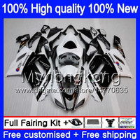 Body + 8Gifts per Kawasaki ZX 6R 6 R 600cc ZX636 2007 2008 209MY.13 Nuovo Bianco Nero ZX636 ZX600 600 ZX6R 07 08 ZX 636 ZX6R 07 08 carenature