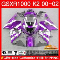 鈴木GSXR 1000 K2 GSXR1000 2000 2002 2002 2002 Body 14HC.121 GSX R1000 00 02 GSXR-1000 GSX-R1000 00 01 02紫炎フェアリングキット