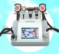modello 2020 elettroniche micro-correnti con luce rossa cavitazione vuoto maniglia 1Mhz RF con luce rossa per la fotografia macchina di sollevamento della pelle del viso