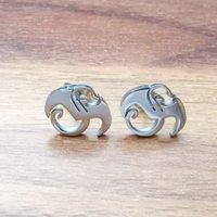 Per strano fascino in acciaio inox tecnologia regalo per orecchini in acciaio design in acciaio argento unisex gioielli marca N9NE nuova buona buona musica nuovo polacco QGSRO