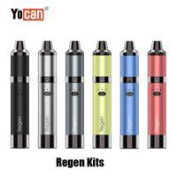 100 % 원래 Yocan Regen 스타터 키트 1100mAh 배터리 건조한 허브 증기 왁스 기화기 Vape 펜 Evolve Plus 코일 정품