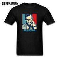 Camisetas divertidas MMA peso pluma Conor McGregor hombres algodón Tops manga corta Camiseta nueva marca ropa masculina camisetas