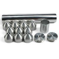"""2 """"x12""""나파 4003 WIX 24003 연료 필터 솔벤트 트랩 1 / 2-28, 5 / 8-24 실버 알루미늄"""