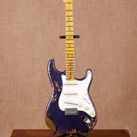 Neue Standard-Custom ST E-Gitarre, Ahorn Griffbrett guitarra, Relikte von Händen, lila Farbe