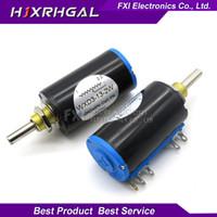 1pcs wxd3-13-2w 10k ohm wxd3-13 2w wirewound potentiometer roterande sida roterande multiturn ny varm försäljning