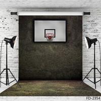 Basketball steht Vinyl Tuch Fotografie Hintergründe Porträt fotografischen Hintergrund 5X7ft Vinyl Tuch Kulisse für Fotostudio Kamera