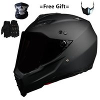 Casco de moto Dual Sport Off Road Mate negro Dirt Bike ATV D.O.T certificado (M, azul) casco integral para moto sport