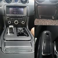 Jaguar XJ XJL 2010-2018 İç Merkez Kontrol Paneli Kapı Kolu Karbon Elyaf Çıkartma Çıkartmaları Araba kesilmiş vinil stil için
