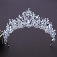 Sposa Corona di lusso fatto a mano Crystal Wedding Tiara Diadema Perle nuziali Corone Diademi Ragazze Accessori per capelli Gioielli da sposa S607