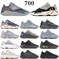 Kanye west 700 V2 Running shoes Yeezy 700 V2 костяной Бегун волны Мужчины Женщины кроссовки Кроссовки сплошной серый аналоговый Tael Carbon Blue дизайнерская обувь
