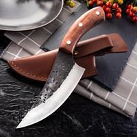 Handgemachtes geschmiedet High Carbon Steel Boning Messer Küchenmesser BBQ Metzgermesser Fleischkleber Outdoor-Kochwerkzeug