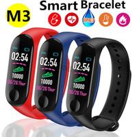 M3 Band Outdoor Sports Smart Armband Fitness Armband Falsche Herzfrequenz Anruf Erinnerung Armbänder Tracker M3 Smart Bracet 50 stücke DHL