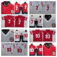 2019 College Football Jersey Ndamukong Suh Jersey Scott Frost NCAA Nebraska Cornhuskers maglie Bianco Rosso Patch 150 °