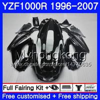 Corpo per YAMAHA Thunderace YZF1000R 96 97 98 99 00 01 238HM.11 YZF-1000R YZF 1000R Nero lucido 1996 1997 1998 1999 2000 2001 Kit carene