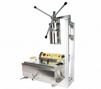 Máquina de churros manual comercial de 5 l con freidora de 25 l máquina de hacer churros máquina de fabricación de churros manual popular equipo español de aperitivos