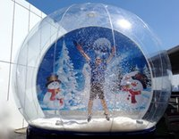 Dimensioni 2M / 3M / 4M Dia gonfiabile Snow globe umana Snow Globe per la decorazione di Natale Popolare Cancella photot Booth Per persone all'interno