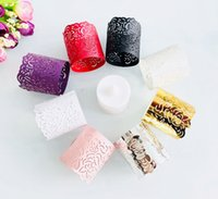 European pattern tea wax lamp paper ring hollowed out lampshade party decoration paper lace LED electronic candle lamp Wedding Accessories