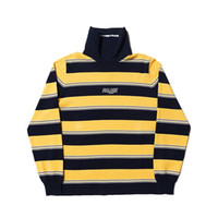 Striped High Neck Sweaters Fashion Brand Mens Sweaters Stree...