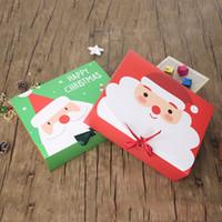 Presente de papel de Natal Caixa dos desenhos animados presente Papai Noel festa de Natal Caixas de embalagem Party Favor Xmas Candy Box Bag Kid Box Suprimentos DBC VT1120