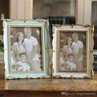 Gül Reçine Fotoğraf Çerçevesi 6 İnç 7 inç Vintage Fotoğraf Çerçevesi Ev Dekorasyonu Retro Ahşap düğün çift Pictures Çerçeveler Hediye Süsleme BH1667 CY