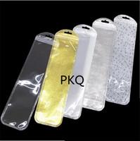 100 pcs Interior 5.5 * 21 cm Longa Self Self Zipper Embalagem De Embalagem Pack Bag Saco De Armazenamento Pacote de Varejo com Hang Hole