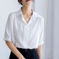 HziriP Office Lady New Short Sleeves Formal Shirt Streetwear...