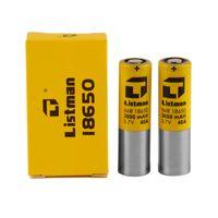 Listman imr 18650 3000mAH 40A 3.7V bateria recarregável de alto dreno para 510 linha de linha mod 100% genuíno