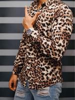 camisa do leopardo homens 2.019 novos fino vestido de camisa macho do ajuste de manga comprida casuais Streetwear fina mens estampa de leopardo para homens 5XL-m