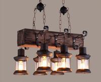 Vintage Loft Kolye Işık Ferforje Cam Gölge Sarkıt Mutfak Işık Asılı Tavan Lambası abajour LLFA