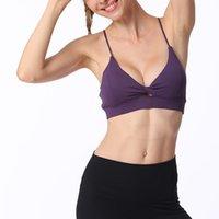 Тренажерный зал одежда мода женщин спортивный бюстгальтер фитнес йога топы твердые дышащие спортивные подрезанные женские толчковые ремни домашняя одежда