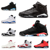 Designer 6 Infrared Men Basketball Shoes Sneaker Black Cat r...