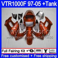 Cuerpo para Honda VTR1000F Superhawk 97 98 99 03 04 05 256hm.aa VTR 1000 F 1000F Gloss Orange VTR1000 F 1997 1998 1999 2003 2004 2005