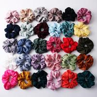 2019 neue Frauen Schöne Silky Satin Hair Scrunchies Haarbänder Leuchtende Farbe Haar-Riegel-Stretch Pferdeschwanz-Halter Zubehör