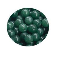 50 parça Doğal jadeit boncuk Bir sınıf yeşim boncuk yağı yeşil kuvarsit yuvarlak boncuk ücretsiz kargo