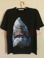 2020 Sommer gibt Mens Art und Weise T-Shirt kurze Ärmel 3D Haifischdruck-T-Shirts lässigen T-Shirt-Kleidung T Baumwolle Tops