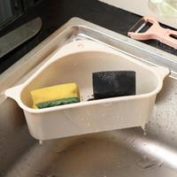 Küche Storage Rack ablassen Korb mit Saugnapf für Sink Corner PP Kunststoff-Schwamm Pinsel Tuch Siebkorb Abtropfgestelle