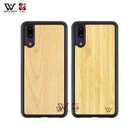 Hurtownie Drewniane TPU Pusta Niestandardowa Design Logo Przypadki telefoniczne Wodoodporne dla Huawei P20