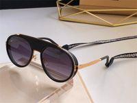 Lentes Homens Mulheres Luxury Designer Sunglasses Redonda Vintage Sun Glasses Zonnebril Homens Mulheres Espelho Moda homem Cadeia Marca Sunglasses 2210